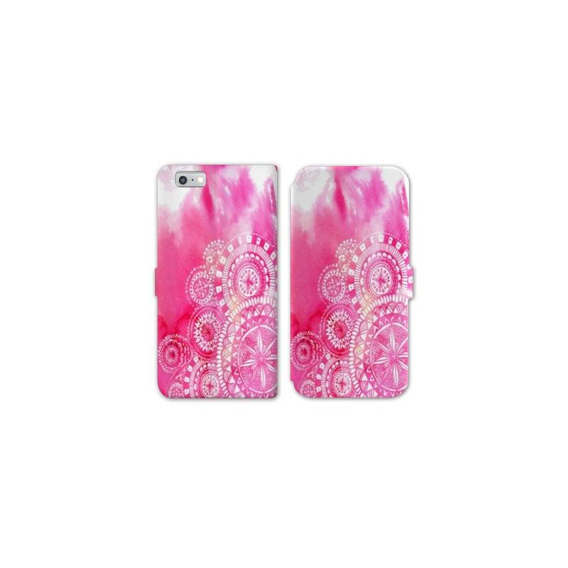Rv housse cuir portefeuille iphone 6 6s etnic abstrait for Housse cuir iphone 6