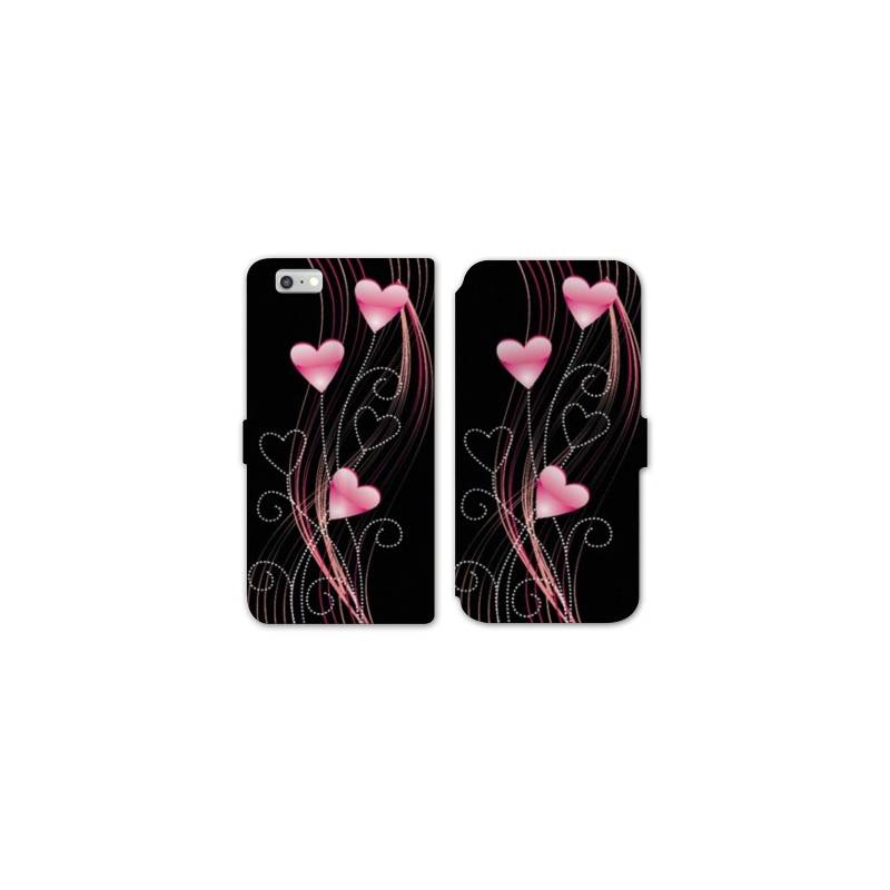 Rv housse cuir portefeuille iphone 7 amour for Housse iphone 7 cuir