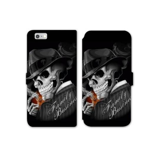 Rv housse cuir portefeuille iphone 7 tete de mort for Housse iphone 7 cuir