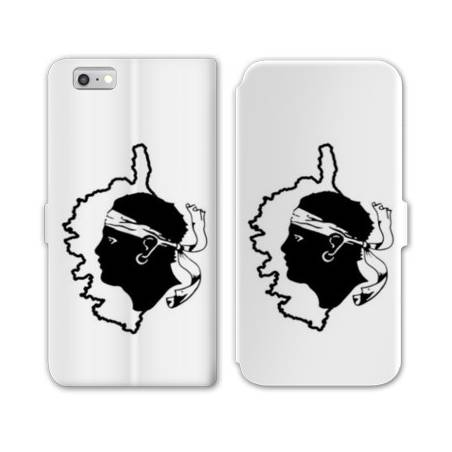 RV Housse cuir portefeuille Iphone 7 Corse