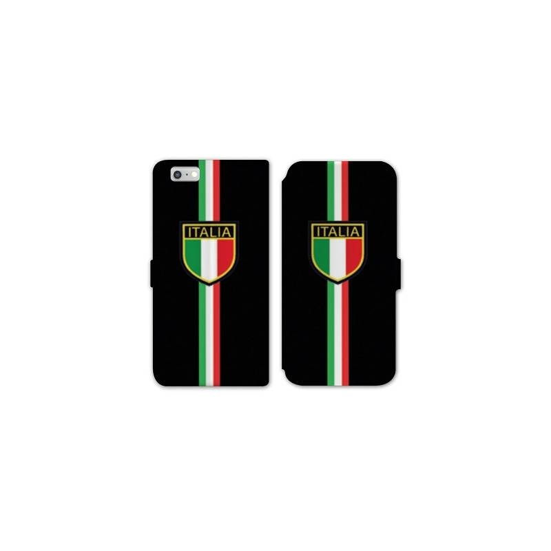 Rv housse cuir portefeuille iphone 7 italie for Housse iphone 7 cuir
