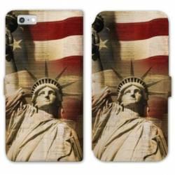 RV Housse cuir portefeuille Iphone 7 Amerique