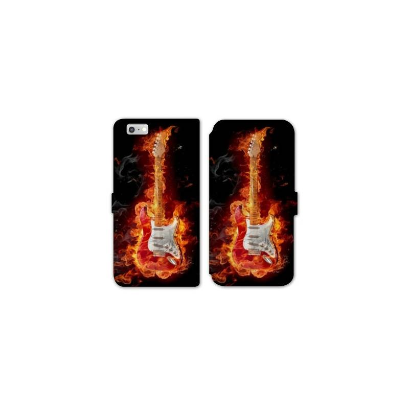 Rv housse cuir portefeuille iphone 7 guitare for Housse iphone 7 cuir