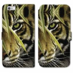 RV Housse cuir portefeuille Iphone 7 felins