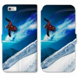 RV Housse cuir portefeuille Iphone 7 Sport Glisse