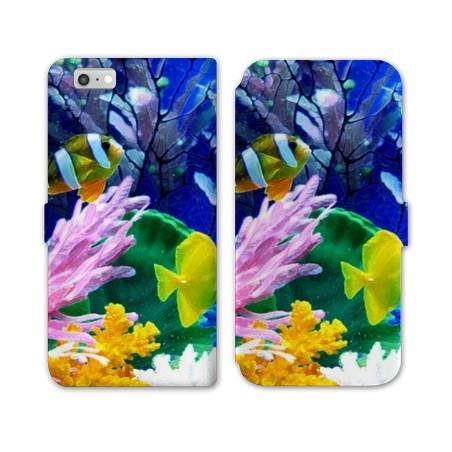 RV Housse cuir portefeuille Iphone 7 Mer