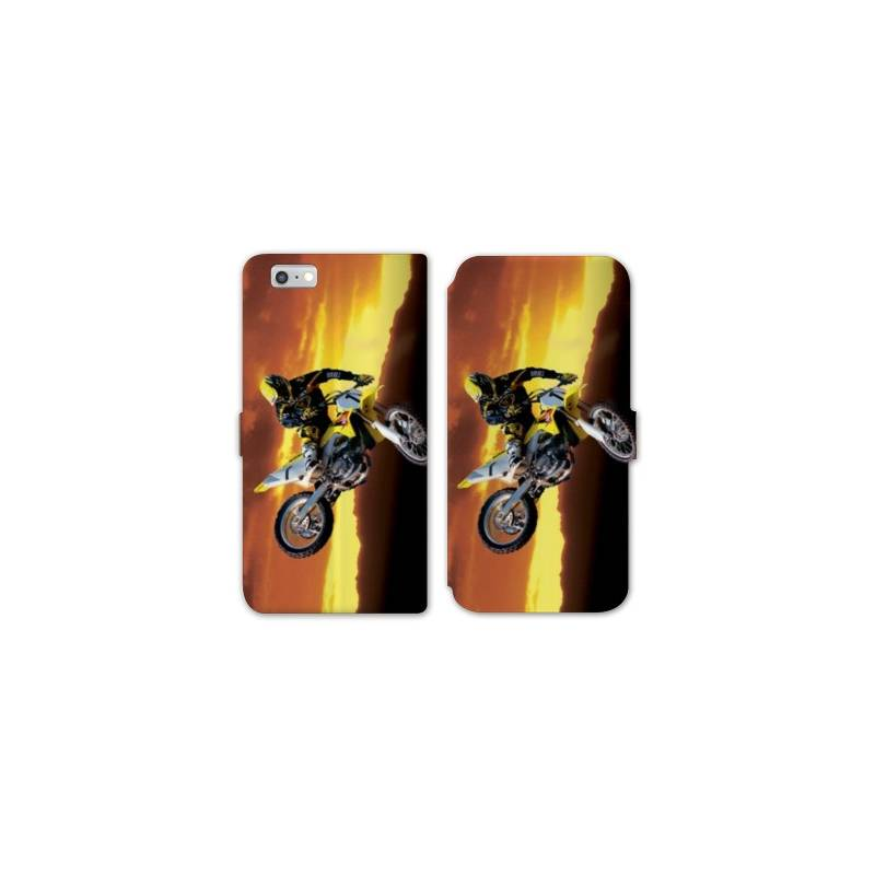 Rv housse cuir portefeuille iphone 7 moto for Housse iphone 7 cuir