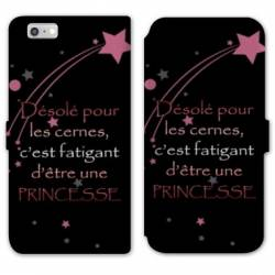 RV Housse cuir portefeuille Iphone 7 Humour