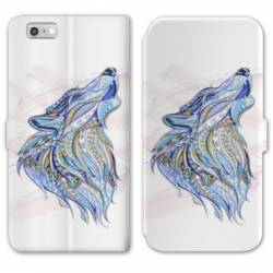 RV Housse cuir portefeuille Iphone 7 Animaux Ethniques