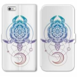 RV Housse cuir portefeuille Iphone 7 Animaux Maori