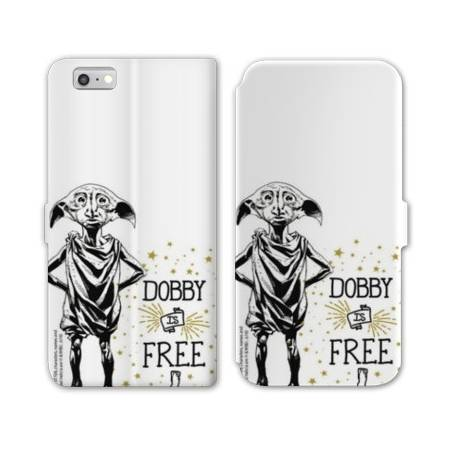 RV Housse cuir portefeuille Iphone 7 WB License harry potter dobby