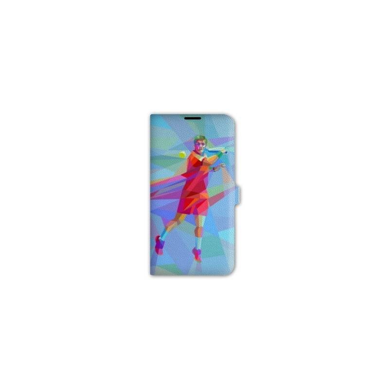 Housse cuir portefeuille iphone 6 6s tennis for Housse portefeuille iphone 6