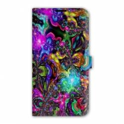 Housse cuir portefeuille Iphone 6 Plus / 6s Plus Psychedelic