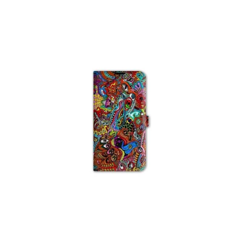 Housse cuir portefeuille iphone 6 plus 6s plus psychedelic for Housse portefeuille iphone 6