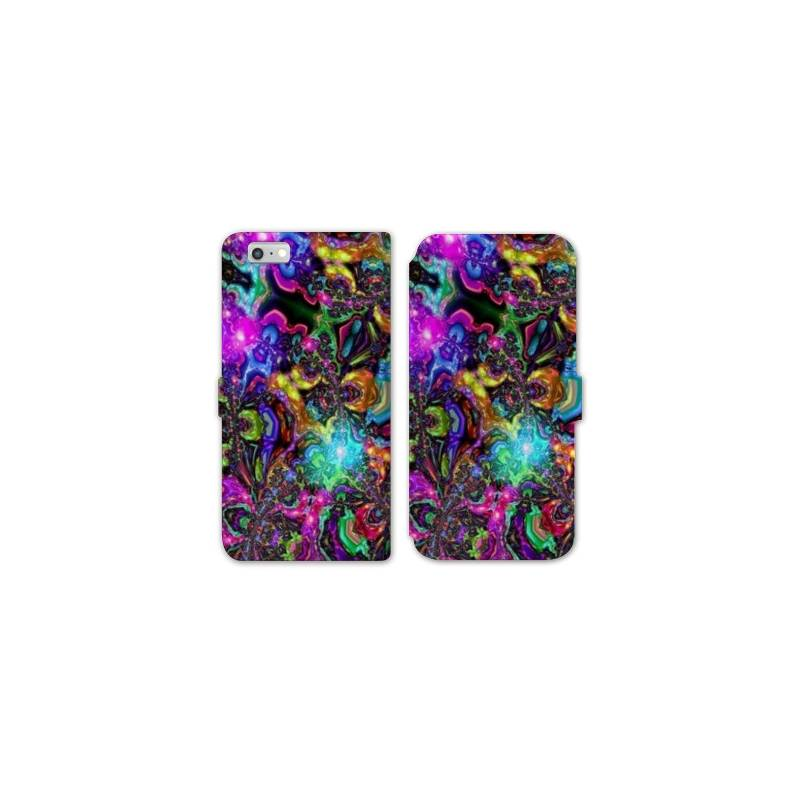 RV Housse cuir portefeuille Iphone 7 Psychedelic