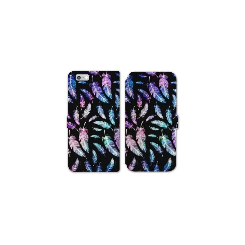 Rv housse cuir portefeuille iphone 6 6s psychedelic for Housse portefeuille iphone 6