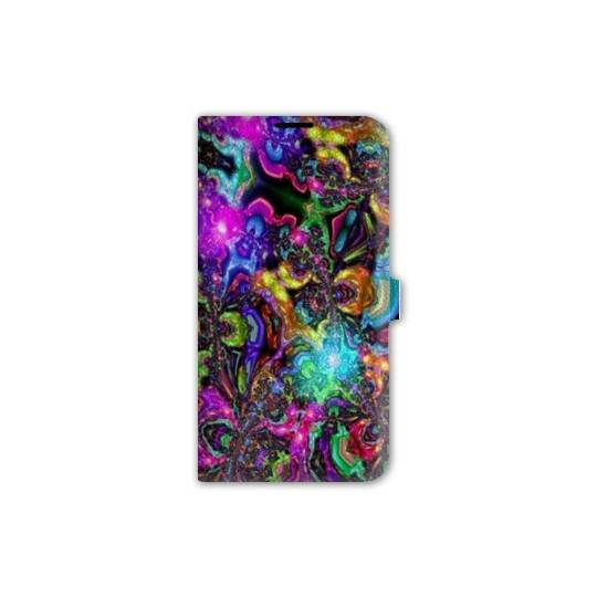 Housse cuir portefeuille Iphone 7 Psychedelic