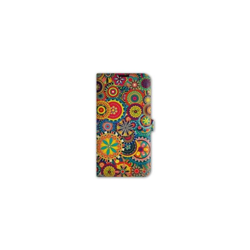 Housse cuir portefeuille iphone 7 psychedelic for Housse iphone 7