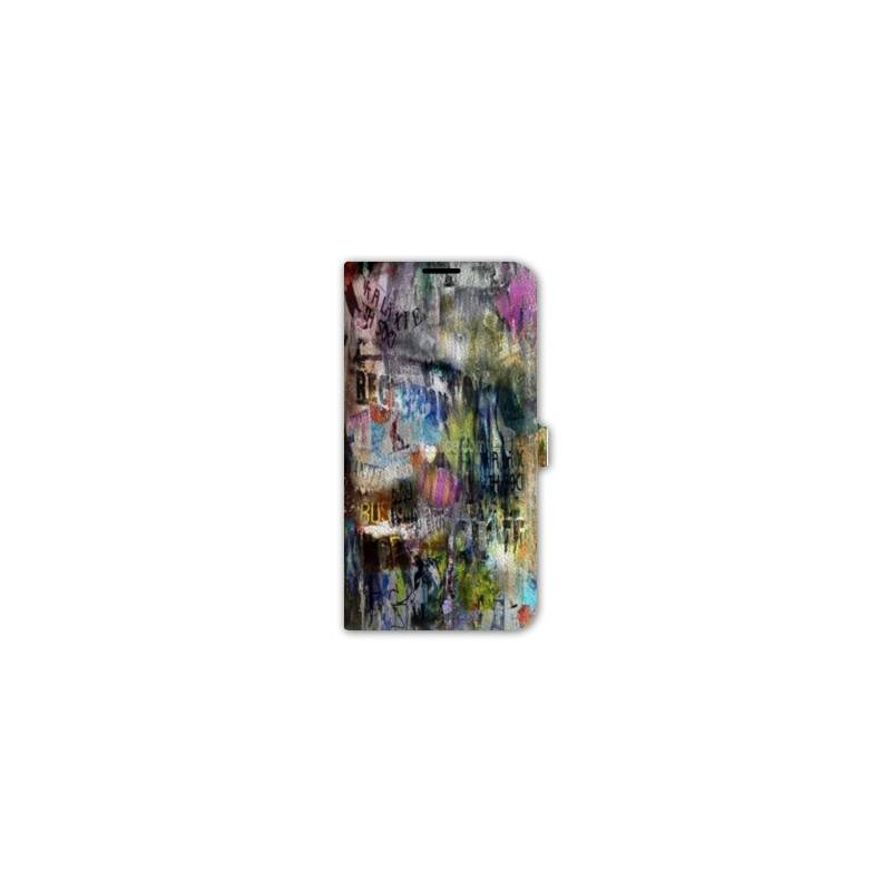 Housse cuir portefeuille iphone 6 plus 6s plus grunge for Housse iphone 6 plus