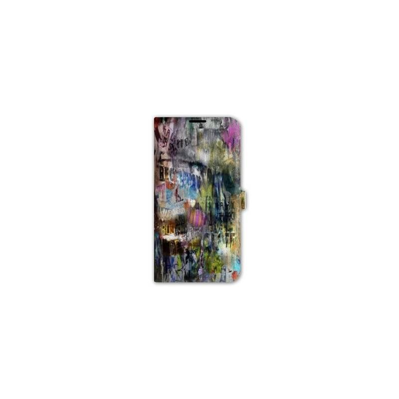 Housse cuir portefeuille iphone 6 plus 6s plus grunge for Housse portefeuille iphone 6