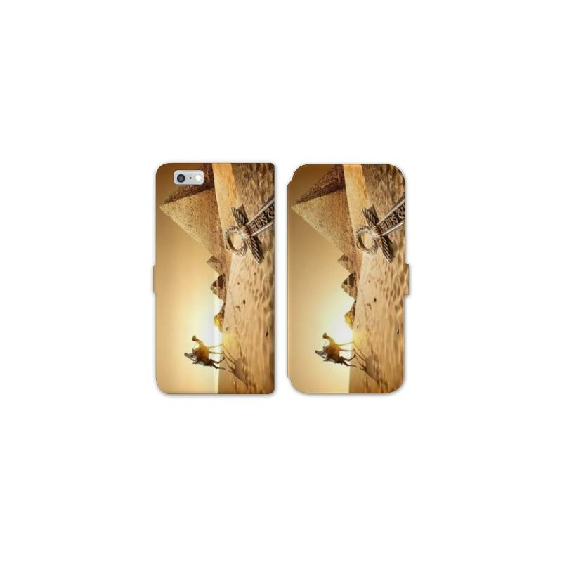 RV Housse cuir portefeuille Iphone 6 / 6s Egypte