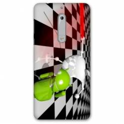 Coque Nokia 5 - N5 apple vs android