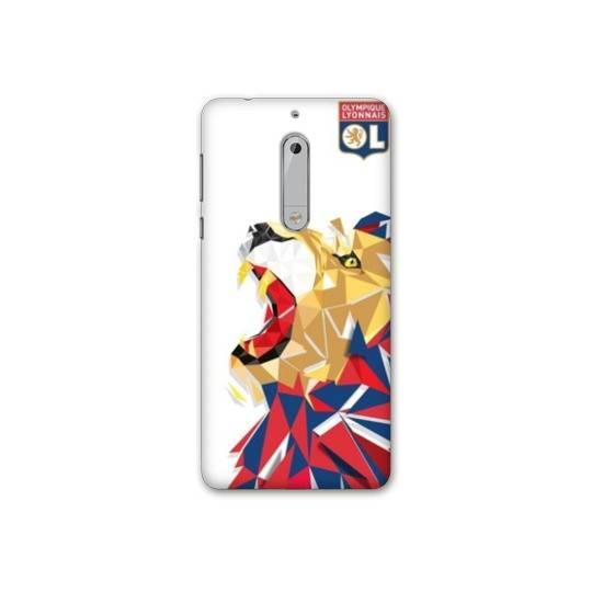 Coque Nokia 5 - N5 License Olympique Lyonnais OL - lion color