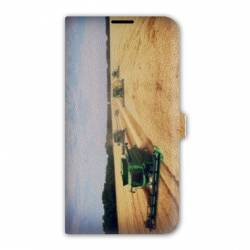 Housse cuir portefeuille Iphone 7 Agriculture