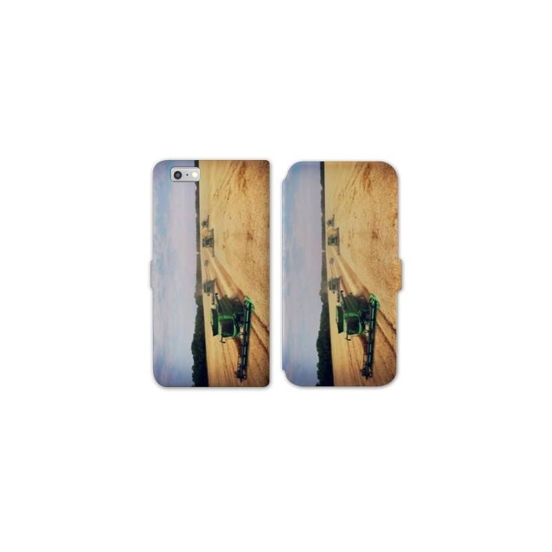 RV Housse cuir portefeuille Iphone 6 / 6s Agriculture