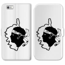 RV Housse cuir portefeuille Iphone 8 Corse