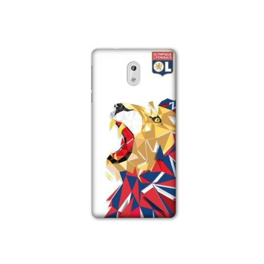 Coque Samsung Galaxy J3 (2017) - J330 License Olympique Lyonnais OL - lion color