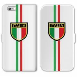 RV Housse cuir portefeuille Iphone 8 Italie