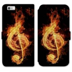 RV Housse cuir portefeuille Iphone 8 Musique