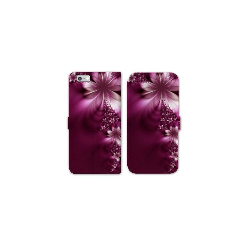 Rv housse cuir portefeuille iphone 8 fleurs for Housse iphone 8