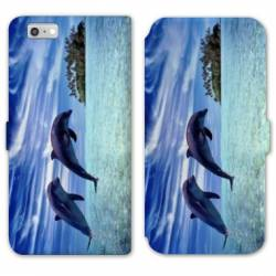 RV Housse cuir portefeuille Iphone 8 animaux