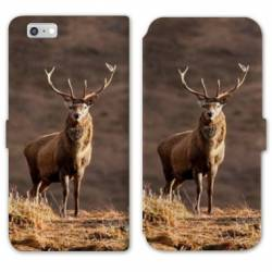 RV Housse cuir portefeuille Iphone 8 chasse peche