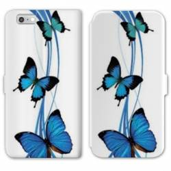 RV Housse cuir portefeuille Iphone 8 papillons