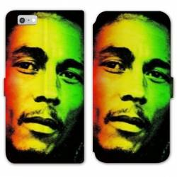 RV Housse cuir portefeuille Iphone 8 Bob Marley