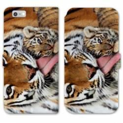 RV Housse cuir portefeuille Iphone 8 felins