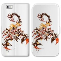 RV Housse cuir portefeuille Iphone 8 reptiles
