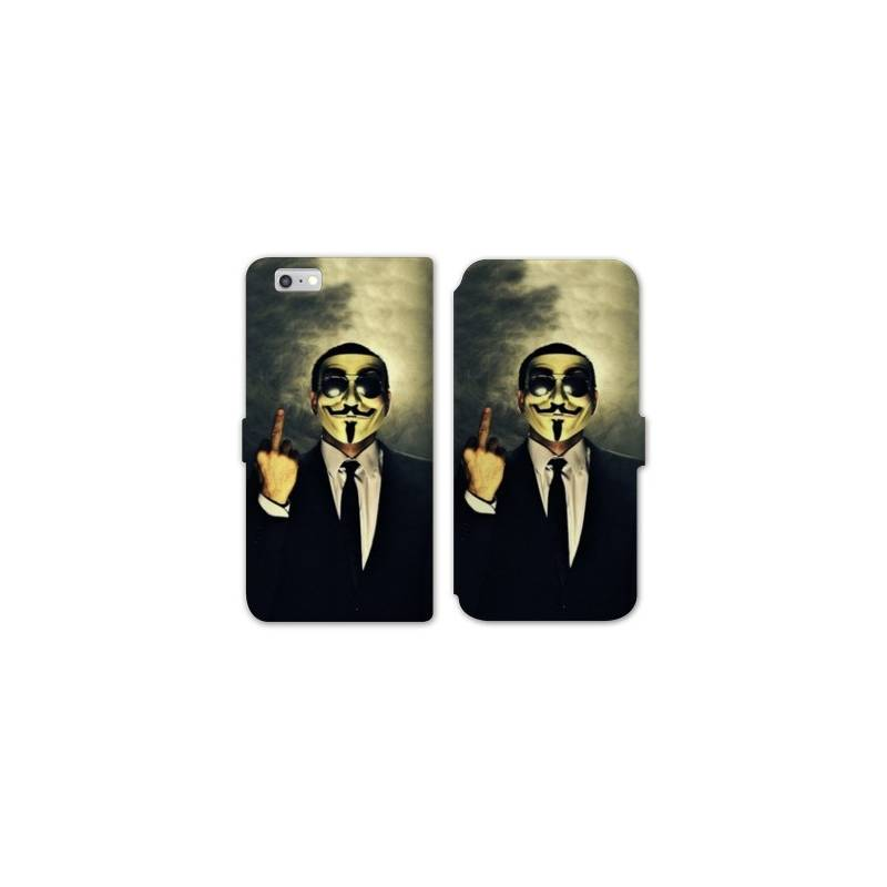 Rv housse cuir portefeuille iphone 8 anonymous for Iphone housse cuir