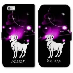 RV Housse cuir portefeuille Iphone 8 signe zodiaque