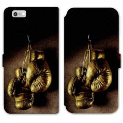 RV Housse cuir portefeuille Iphone 8 Sport Combat