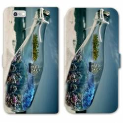RV Housse cuir portefeuille Iphone 8 Mer