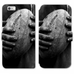 RV Housse cuir portefeuille Iphone 8 Rugby