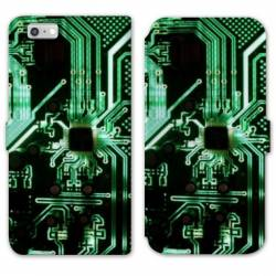 RV Housse cuir portefeuille Iphone 8 Trompe oeil