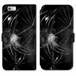 RV Housse cuir portefeuille Iphone 8 Trompe oeil