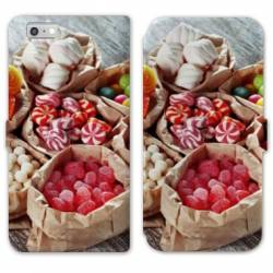 RV Housse cuir portefeuille Iphone 8 Gourmandise