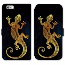 RV Housse cuir portefeuille Iphone 8 Animaux Maori