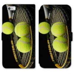 RV Housse cuir portefeuille Iphone 8 Tennis